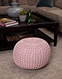 Jindal EXPORTS Cotton Knitted Pouf Ottoman Foot Stool/for Living Room/Bedroom Hall/Pouf Ball Chair/Pouf
