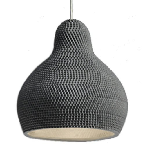 Industreal LAMPE 144DPI lampada a sospensione in porcellana nera
