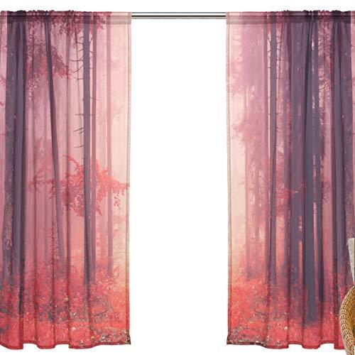Rose 200 x 100cm Fenteer Voile Rideau Voilage de Fen/être pour Accueil Mariage H/ôtel F/ête Restaurant