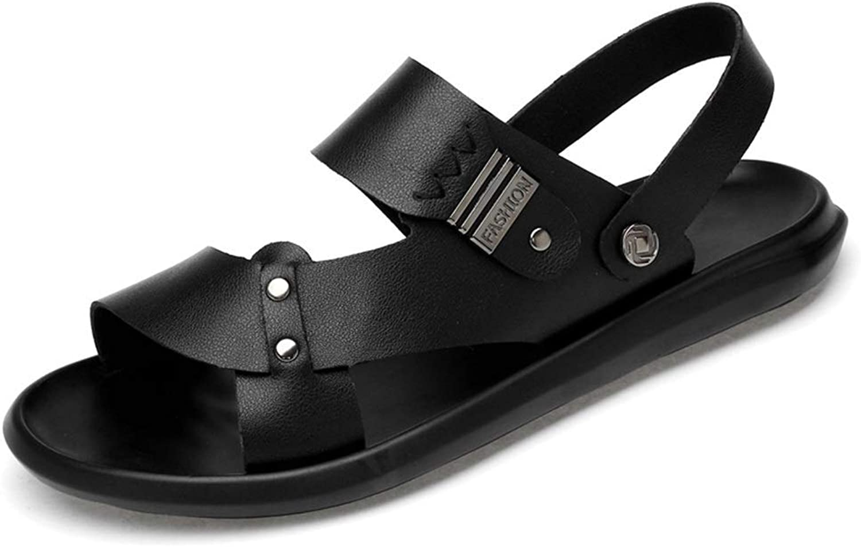 BAIF Mode Sandalen rutschfeste Atmungsaktive Big Größe Größe Sommer Open Toe Weiche Freizeit Hausschuhe Herren Sommer Schuhe (Farbe  Schwarz, Größe  6 UK)  60% Rabatt sparen