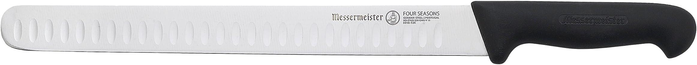 Messermeister Four Seasons Kullenschliff Round Tip Slicer, 12-Inch