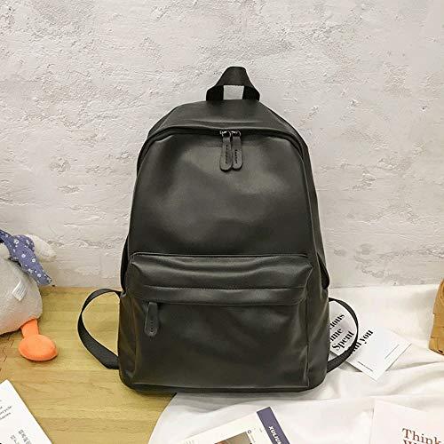 ZZYJYALG Mochila de mochila para mujeres Schoolbag Femenina, Mochila de la universidad coreana de la universidad, Mochila de cuero retro del campus de cuero de la PU de la escuela secundaria, la mochi