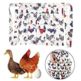 Skisneostype- Egg Collecting & Gathering Apron, Cute Apron with 12 Deep Pockets for Farm Eggs Collecting...