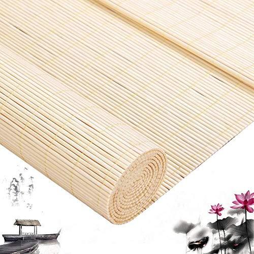 Bamboe Rolgordijnen Bamboe Vouwgordijnen Jaloezieën Houten Jaloezieën - Gordijn Gordijn Verticale Ramen Zonneschermen Eetkamer Decor Multi-Maat Aanpasbaar  (Grootte: 100X240CM)