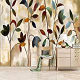 Papel Pintado Mural 450X350cm Hermosas Hojas Murales Personalizados Papel Tapiz 3D Foto Pintura Mural Sala De Estar Dormitorio