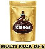 Hershey's Kisses Milk Chocolates, 100.8g - (Pack of 6)