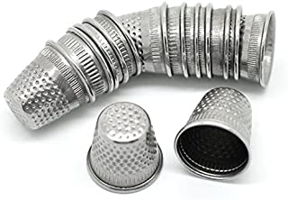 PEPPERLONELY Brand 30PC Silver Tone Sewing Thimbles 19x18mm (3/4 x 3/4 Inch)