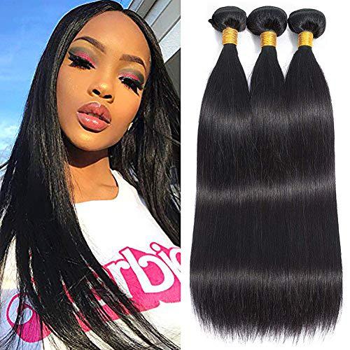 Musi tissage bresilien boucle bresilien lisse tissage en lot 3 meche bresilienne straight Hair grade 8A humain cheveux naturel 300g 12 14 16