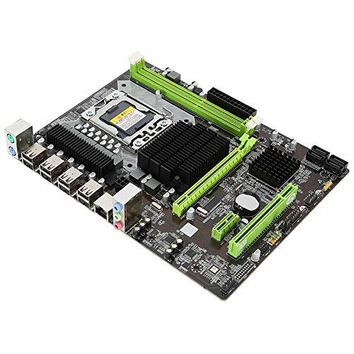 Placa Base Computadora Placa Base X58 Tarjeta de Red de 1366 Pines GB Tarjeta de Red DDR3 Soporte de Placa Base de Escritorio RECC Memory Pro