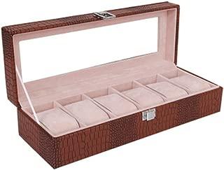 Jewelry Storage Box with Mirror Jewelry Box Multi-Function Jewelry Box(Coffee One Size)