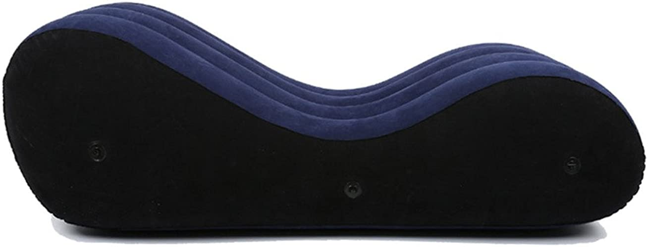 ZHRUI Amour Sexuel Lit Gonflable Coussin d'air PF3207 PVC + Nylon Multifonctionnel Outil de Sexe Noir 150  61  50cm