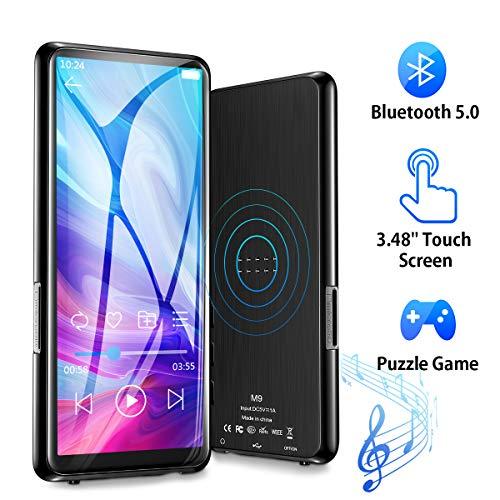 Lettore MP3 Bluetooth 8GB portatile con 3,46 Pollici Schermo TFT Olycism MP3 Lettore Musica Photo Viewer E-Book Reader Radio FM Giochi supporta memory card fino a 128 GB