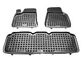 Rezaw-Plast Alfombrillas de Goma Compatible con Tesla Model S (Desde 2012) + Limpiador de Plasticos (Regalo) | Accesorios Coche Alfombrilla Suelo