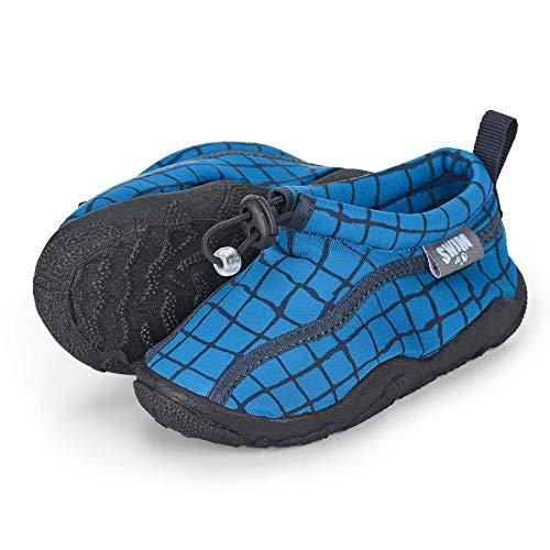 Sterntaler Baby - Jungen Aqua-Schuhe mit Gummizug und rutschfester Sohle, Farbe: Blau, Größe: 27/28, Alter: 4-5 Jahre, Art.-Nr.: 2512101