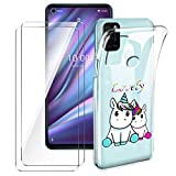 Brands LJSM Case for Wiko View 5 Plus + [2 Pieces] Tempered