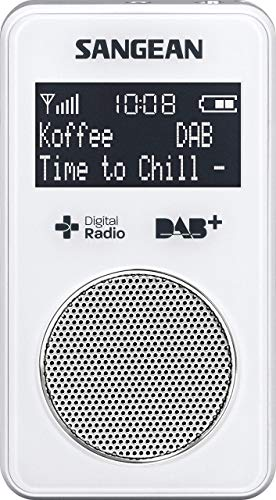 Oferta de Sangean DPR-34 - Radio portátil de 0.15 W (DAB, DAB+, FM, 3.5 mm, pantalla LCD), blanco