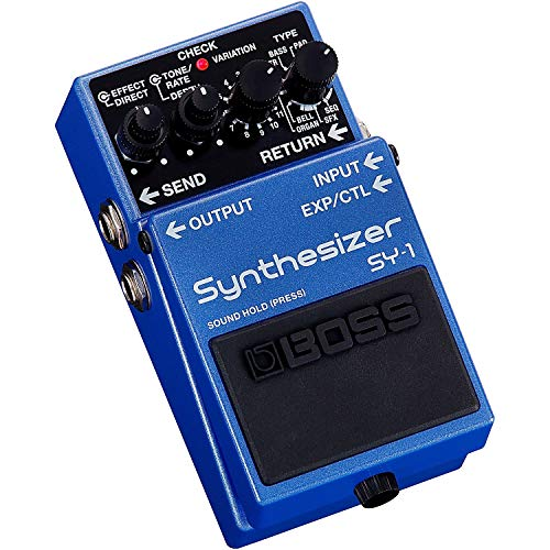 BOSS SY-1 Synthesizer Guitar Pedal, 121 Ultra-responsive, Polyphonic Sounds, Easy, Plug-and-Play Experience