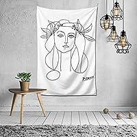 ピカソ Picasso タペストリー ンテリアおしゃれ壁掛け 壁飾り多機能 装飾布 ファブリック装飾用品 北欧風 装飾アート 模様替え 部屋 窓カーテン 新居祝い (3, 150*100)