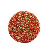 Wumudidi Bola de la Flor Colgante del Topiary de Rose roja, Bola de Hierba Artificial de la Planta, decoración de la Boda,60cm