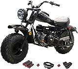 X-PRO Supersized 200CC Youth Mini Bike Gas Powered Mini Trail Bike Scooter Mini Motorcyle,Big 19' Tires! Big Headlight! (Black)