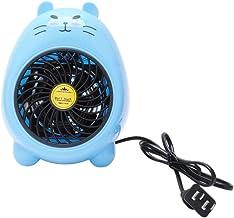 Yuan Dun'er Calefactor Aire Caliente y Frio,Mini Ventilador pequeño Calentador de Oficina en casa Calentador Calentamiento eléctrico Saludable Cálido Azul