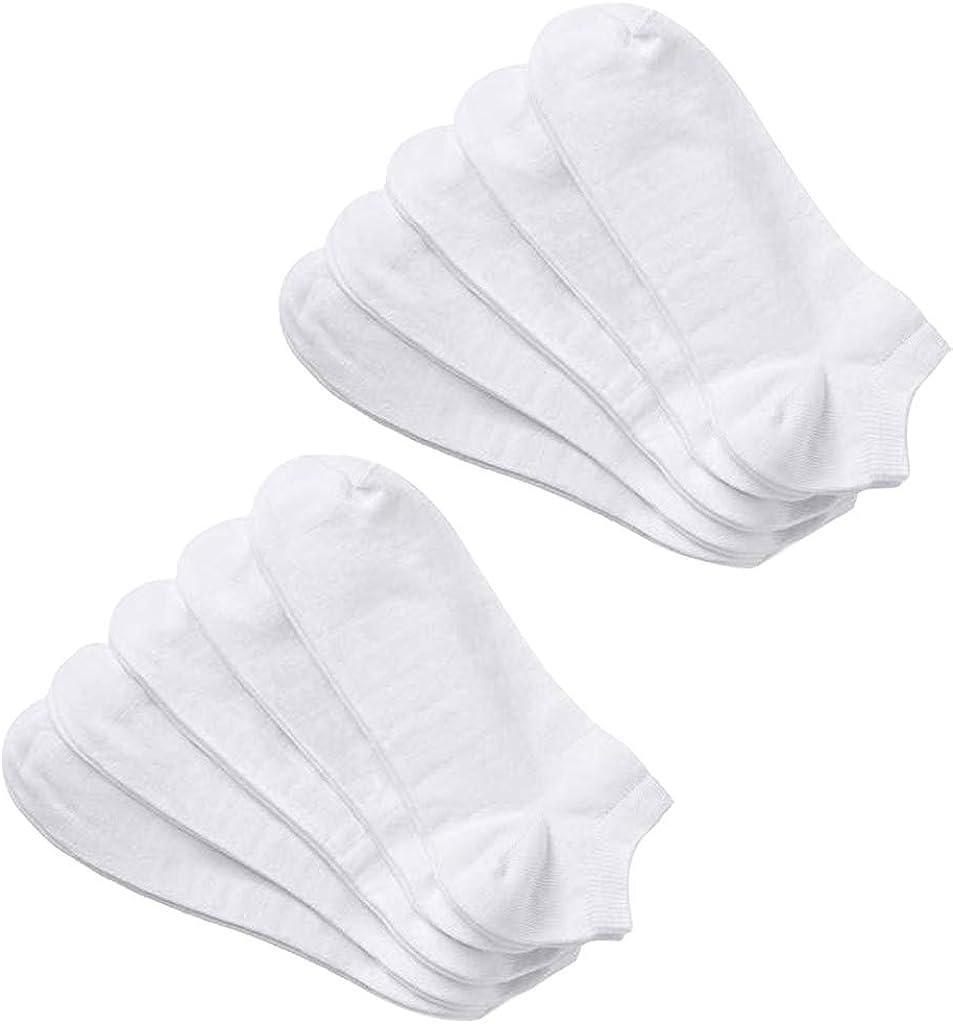 ZEFOTIM ✿ 10 Pairs Sports Socks Adult Man's Solid Color Cotton Tube Casual Sundress Socks