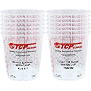 Custom Shop Pack of 12 Each 32 Ounce Paint Mix Cups with calibrated Mixing ratios on Side of Cup