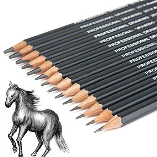 Kcopo Bleistift Skizze Stift Malerei Stift Kunst Bleistift Zeichnung Bleistift Geeignet zum Skizzieren und Lackieren 14 verschiedene Spezifikationen 14 Stück