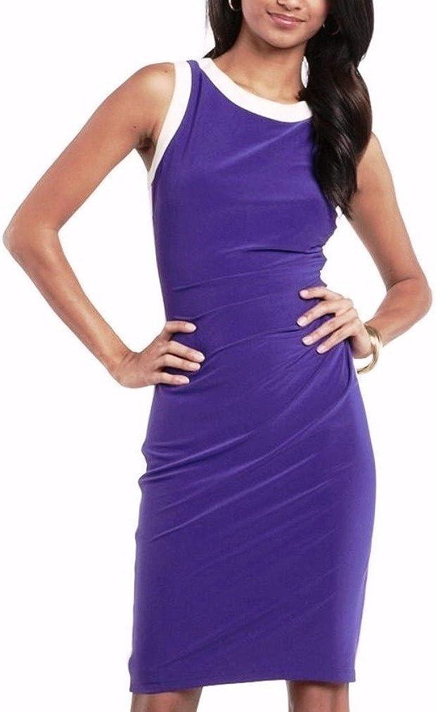 Chaps Womens Designer Sheath Dress Small and X-Large Purple Colorblock