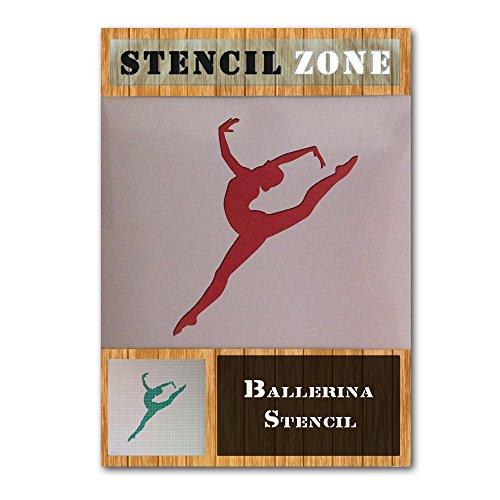 Bailarina de ballet oficios Bailar Bailarín pintura mylar arte Arabesque stencil Dos (A1 Tamaño de la plantilla - Xlarge)