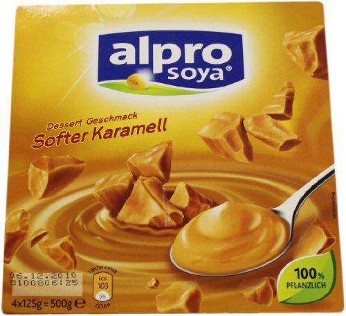 Alpro Soja Dessert Geschmack Softer Karamell 4 x 125g