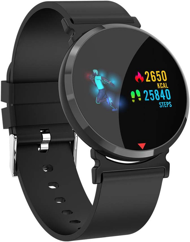 APJJ Wasserdichter Health Tracker, Farbe Screen Sport Smart Watch, Activity Tracker mit Herzfrequenz-Blautdruck Kalorien Pedometer Sleep Monitor Call SMS-Feminde für Geschenk