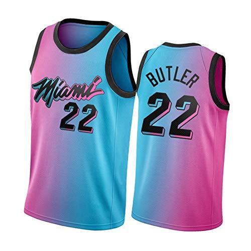 Miami Heat New City Edition Basket Blackball Jersey, 22 Jimmy Butler # 14 Herro e # 3 Wade da Uomo da Uomo da Ricamo T-Shirt Uniforme da Basket. 22-XL