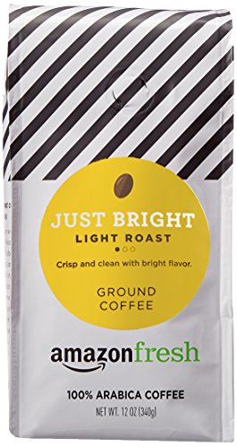 AmazonFresh Just Bright Ground Coffee, Light Roast, 12 Ounce