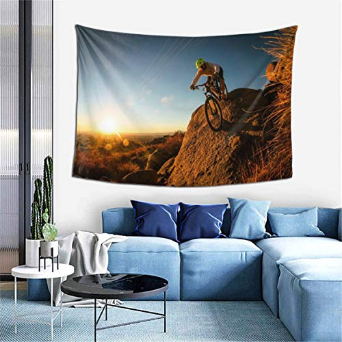 Wall Tapestry, Mountain Bike Show Wall Blanket Wall Hanging for Room, Home Decor, Wall Art Hippie Decoration -  Sulaeb, Sulaeb-gt-110515892-Black-48