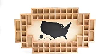 50 state shot glass display case