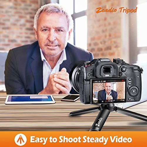 Zeadio Metall Mini-Stativ mit 1/4 Zoll Schraube, Tisch-Stativ für Smooth 4, Osmo Mobile, Vimble 2, Gimble Griff-Stabilisator und alle Kameras