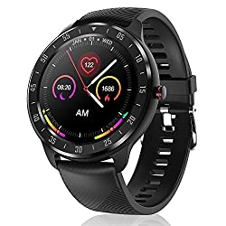 Canmixs Smartwatch Orologio Fitness Tracker Uomo Donna, Bluetooth Smart Watch Cardiofrequenzimetro Da Polso Contapassi Conta Calorie Impermeabile Ip67 Sportivo Activity Tracker Per Android Ios