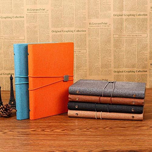 N\C Oficina de Negocios con Correas triples Cuaderno de Hojas Sueltas Cuaderno A5 Papelería Creativa PU Book, A5,100