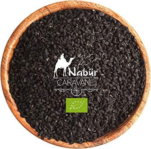 Nabür - Graine de Nigelle Biologique 200g - Cumin Noir Bio   Cuisine, Infusion, Pâtisserie - Riche en Fer, Minéraux, Vitamines