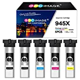 GPC Image Druckerpatronen Kompatibel für Epson T9451 T9452 T9453 T9454 Patronen für Epson Workforce Pro WF-C5710DWF, WF-C5790DWF, WF-C5210DW, WF-C5290DW (2 Schwarz/1 Cyan/1 Magenta/1 Gelb, 5er Pack)