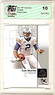 Cam Newton 2011 SP Authentic Upper Deck Panthers Rookie Card PGI 10