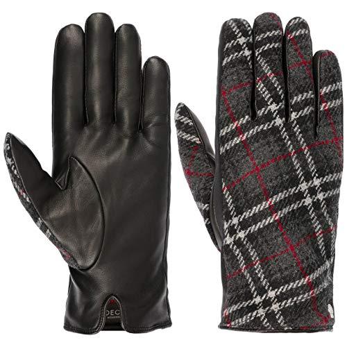 Roeckl Tartan Edinburgh Handschuhe Fingerhandschuhe Damenhandschuhe Wollhandschuhe Lederhandschuhe (8 HS - schwarz)