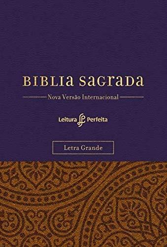 Bíblia NVI, Couro Soft, Roxo e Amarelo, Letra Grande, Com Espaço para Anotações, Leitura Perfeita.