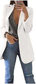 neveraway Women Long Sleeve Winter Fall Slim Jacket Coat Lapel Peacoat
