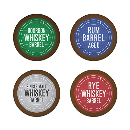 Bourbon Barrel Aged K-Cups Coffee 24ct Variety Pack Set, Single Origin Coffee Paired with Bourbon,...
