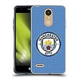 Head Case Designs Licenciado Oficialmente Manchester City Man City FC Casa Kit de Insignia 2021/22 Carcasa de Gel de Silicona Compatible con LG K8 / K9 (2018)