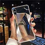 Uposao Compatible con Funda iPhone X/XS Purpurina Funda,Espejo Glitter Brillante Carcasa con 3D Geométrico Diseño TPU Slim Silicona Carcasa Funda Caso para iPhone X/XS,Dinero