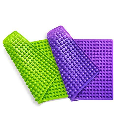 Collory Silikon Backmatte (2 Stück) 40x28cm | 1cm Halbkugel Backform Hundekekse Hundeleckerlies | Backpapier | Backunterlage | Pralinenform | Hitzebeständig & Antihaftend | Lebensmittelecht