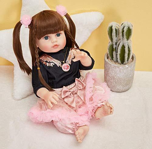 XZHFC Fashion Real Tissu Corps Baby Reborn Girl Poupée 55 Cm Répétuelle Reborn Baby Poupées...
